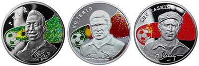 Сбербанк предлагает монеты «Короли футбола»