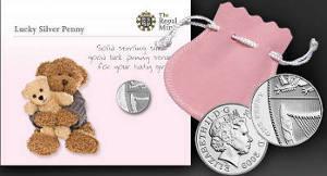 Счастливые серебряные пенни в подаров
