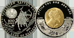 Аттила на монете Казахстана