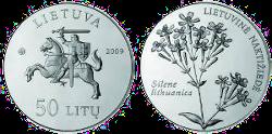 Новая монета Литвы «Смолёвка Литовская»