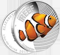 Монета «Рыба-клоун» из серии «Морская жизнь Австралии»