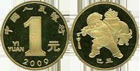 Монеты Китая номиналом 1 юань