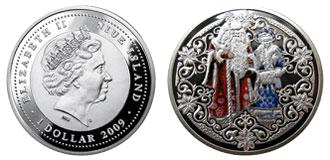 Монеты с изображением Деда Мороза и Снегурочки