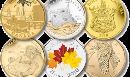 Первый набор монет и сувенирной продукции 2010 года от Канады