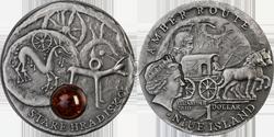 Монета Ниуэ «Старе Градиско» из серии «Янтарный путь»