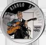 Новая монета «Джанго Рейнхардт» от Бельгии