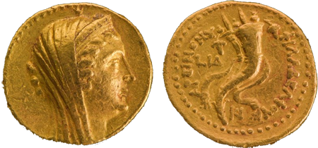 В Израиле обнаружена золотая монета, отчеканенная 2,2 тыс. лет назад