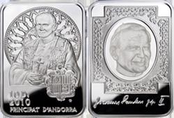 Монета «Иоанн Павел II» с ахроматической голограммой