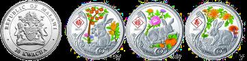 Две серии монет «Лунный календарь» от Малави