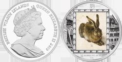 Монета Британских Виргинских Островов «Заяц Альбрехта Дюрера»