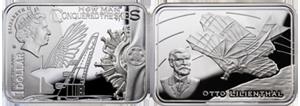 Монета «Планёр» серии «Как человек покорял небо»