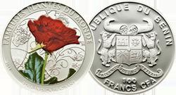 Монета Бенина «Красная роза»