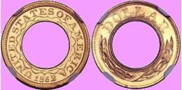 На аукционе Heritage выставлен редкий золотой доллар
