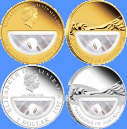 В Австралии выпущены монеты с жемчугом