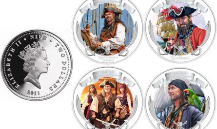 Набор монет «Пираты» от Ниуэ