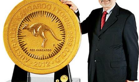 Монета-гигант весом в одну тонну