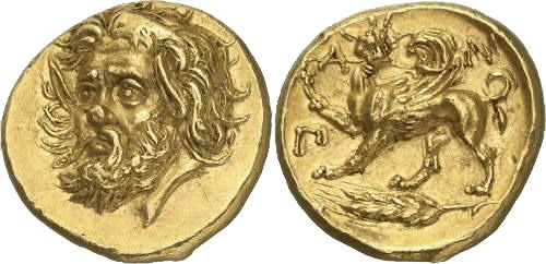 Золотой статер из Пантикапея за 3,8 миллиона долларов